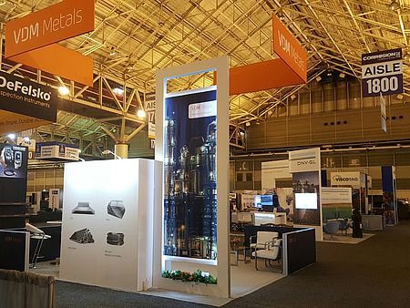 VDM Metals trade fair booth at NACE Corrosion 2017
