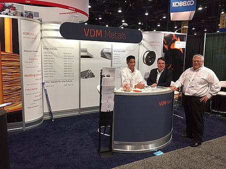 VDM Metals trade fair booth at Fabtech 2016